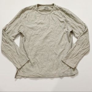 J. Crew Sueded Jersey Cream Crewneck Sweater Med